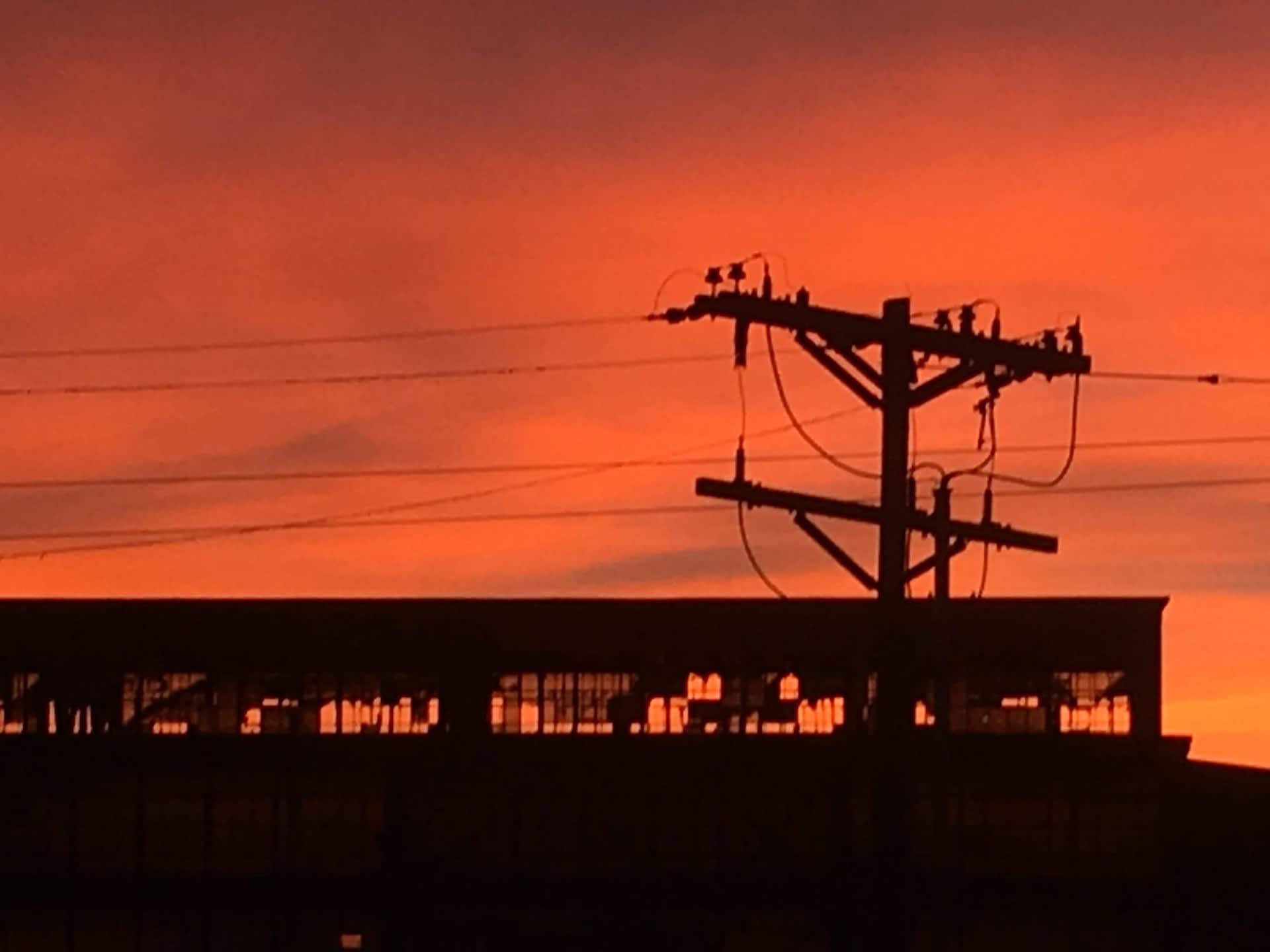 Rail Yard at Dawn #005