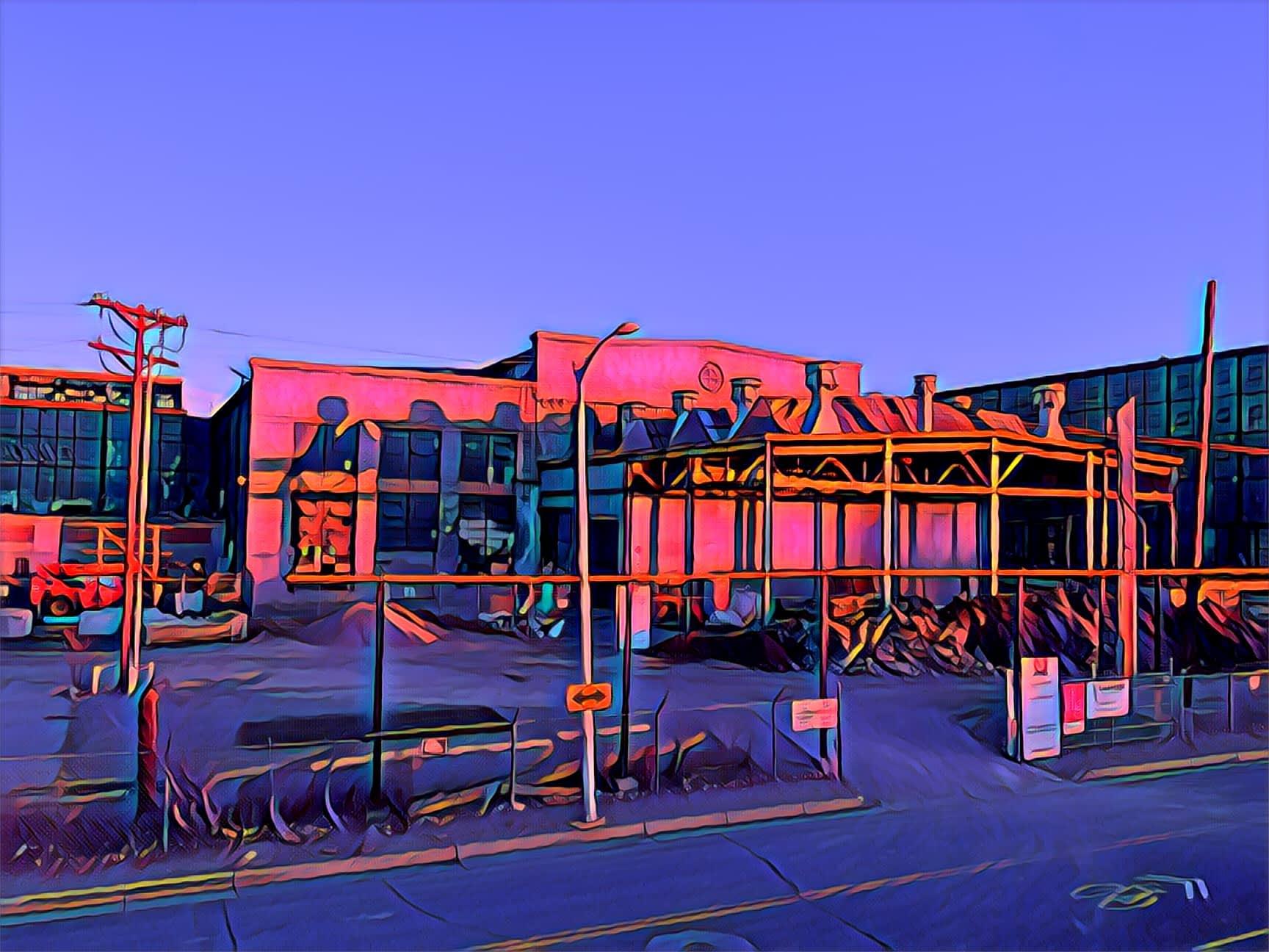 Rail Yard Digital Painting