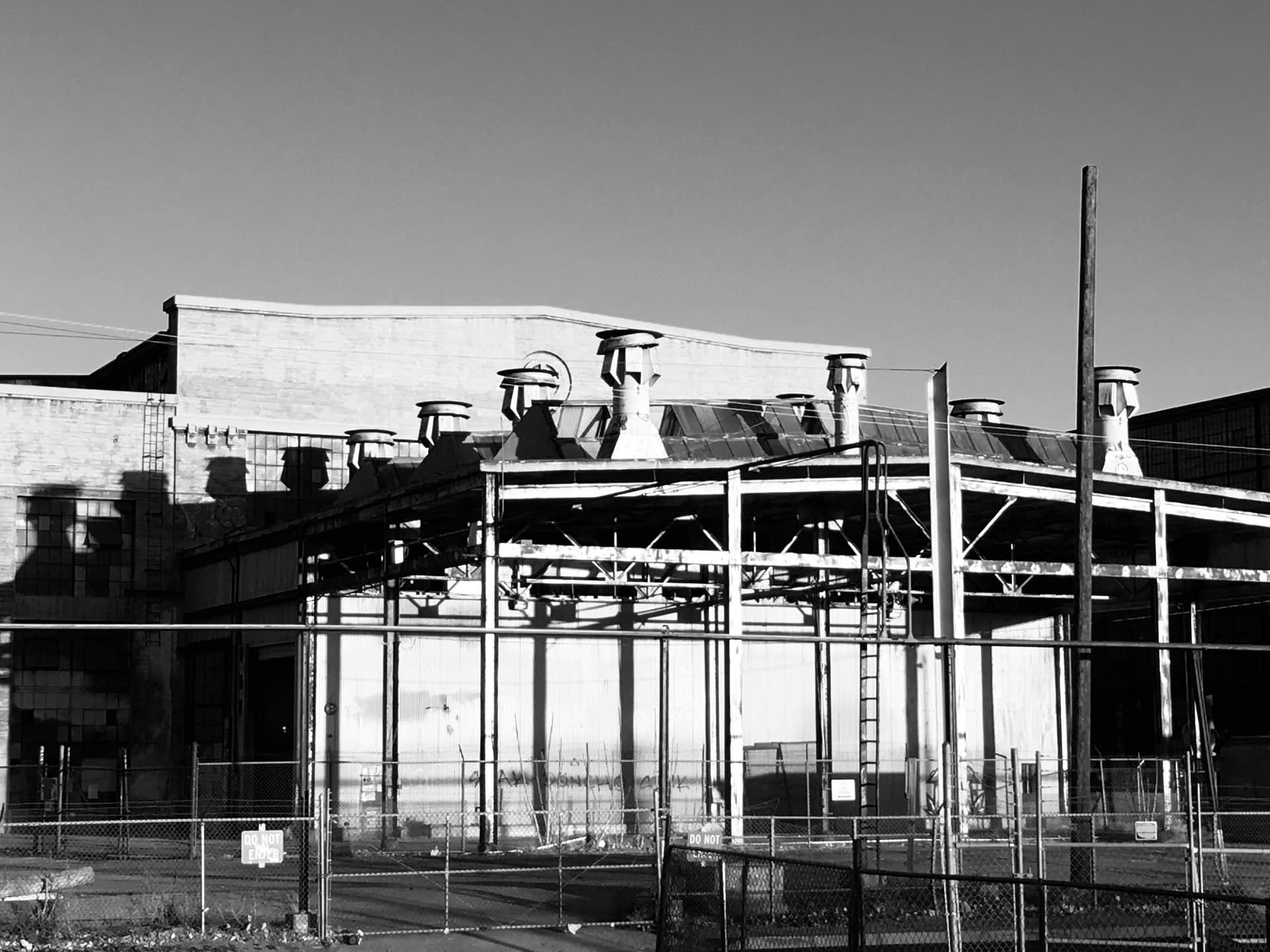 Rail Yards B/W Paint Shop #004