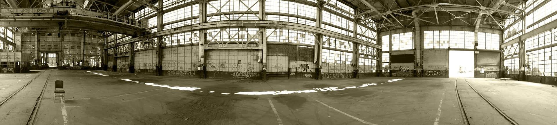 Rail Yards – Sepia Pano