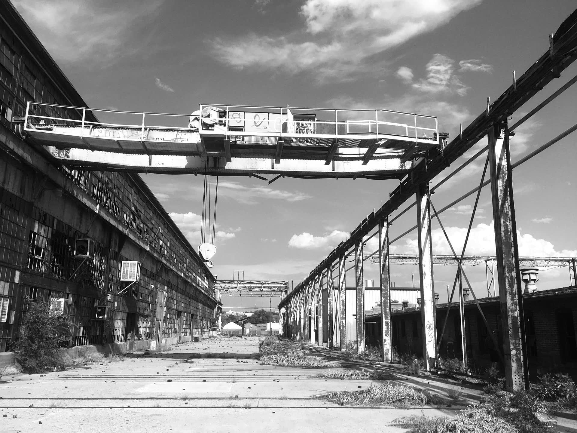 Rail Yards B/W Outside Crane