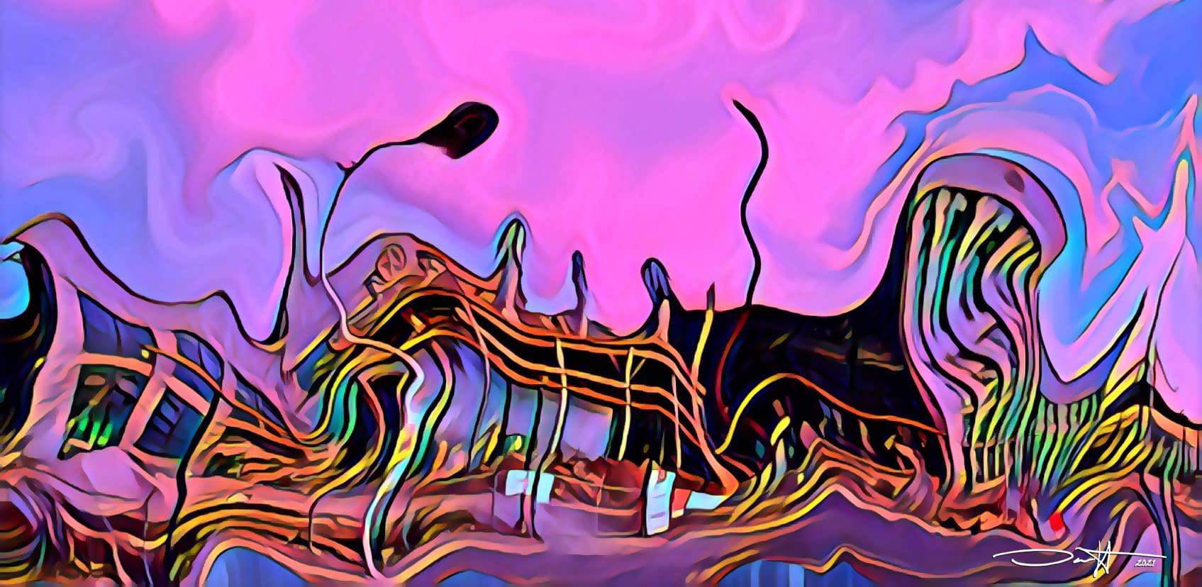 Purple Melting Rail Yards